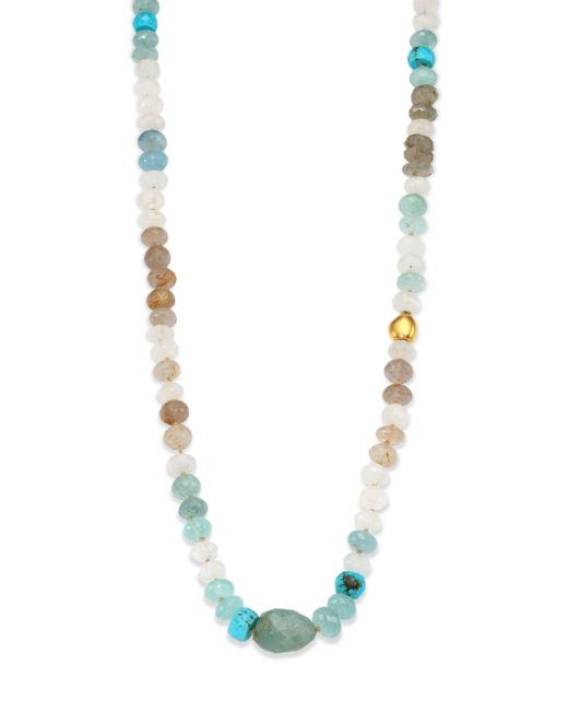Lena Skadegard | Multicolor Semi-precious Multi-stone & 18k Yellow Gold Beaded Strand Necklace | Lyst