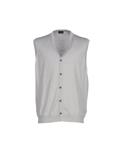 Drumohr | Gray Cardigan for Men | Lyst