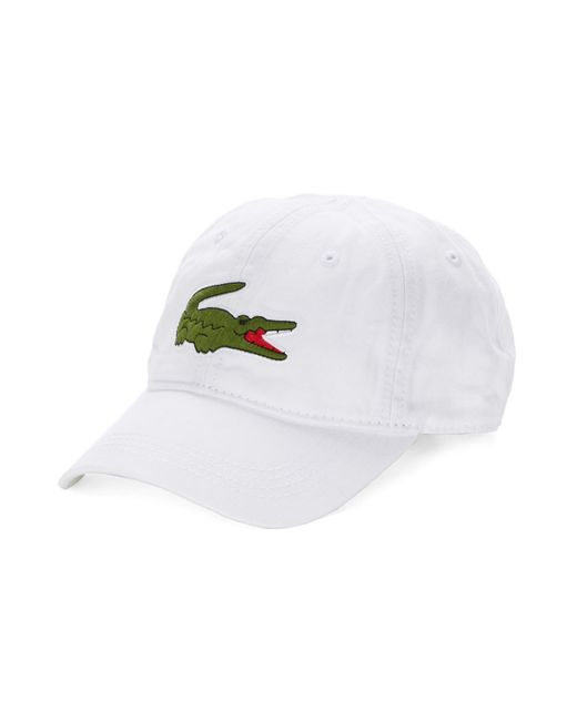 Lacoste | White Embroidered Signature Cap for Men | Lyst
