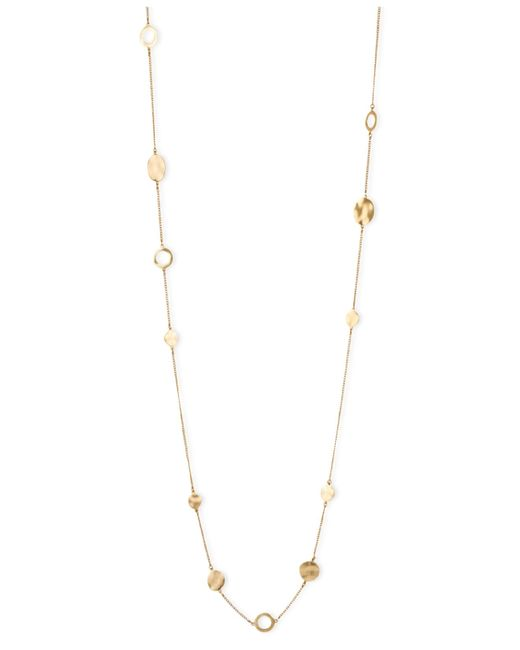 Kenneth Cole   Metallic Necklace, Gold-tone Circular Station Long Necklace   Lyst