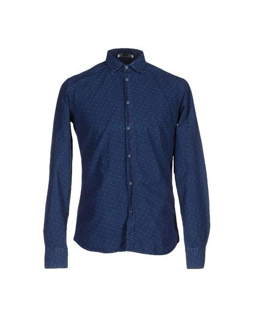 Aglini | Blue Shirt for Men | Lyst