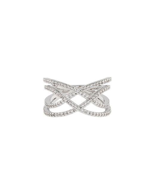 Accessorize - Metallic Platinum Phoebe Sparkle Ring - Lyst