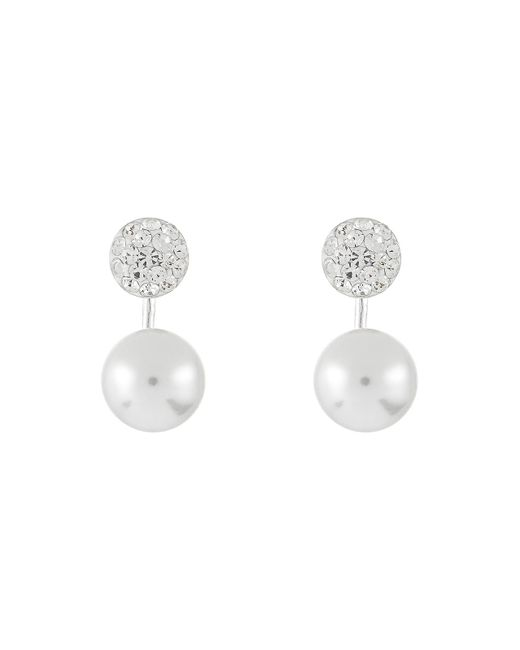 Accessorize | Multicolor Sterling Silver Pave & Pearl Ear Jackets | Lyst