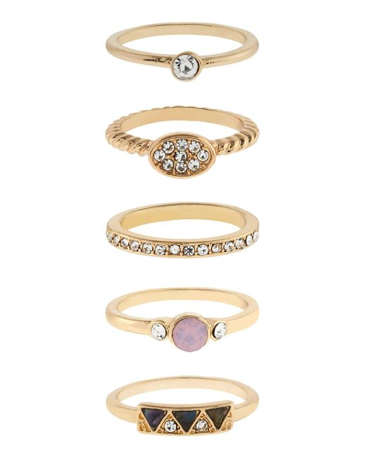 Accessorize | Metallic Pretty Stacking Ring Set | Lyst