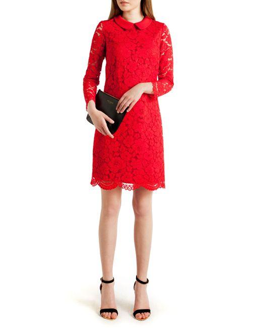 Ted Baker   Red Short Dress   Lyst