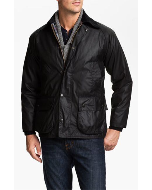 Barbour | Black 'bedale' Regular Fit Waxed Cotton Jacket for Men | Lyst