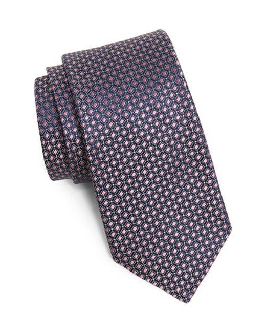 Michael Kors | Pink Woven Silk Tie for Men | Lyst