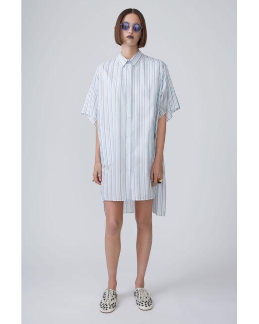 Acne   Debrah C Stripe blue Stripe   Lyst