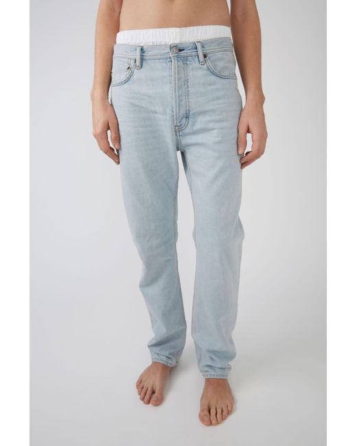 Acne - Blue Loose Fit Jeans for Men - Lyst