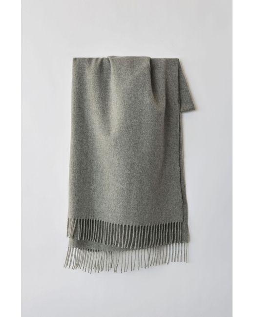 Acne - Gray Fringed Scarf grey Melange - Lyst