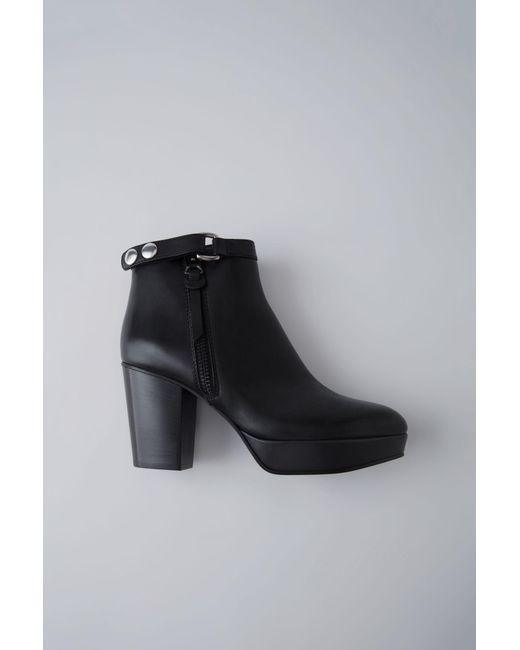 Acne - Black Orbit Ankle Boot - Lyst