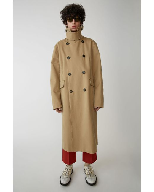 Acne - Natural Fn-mn-outw000014 Sand Beige Oversized Trench Coat for Men - Lyst