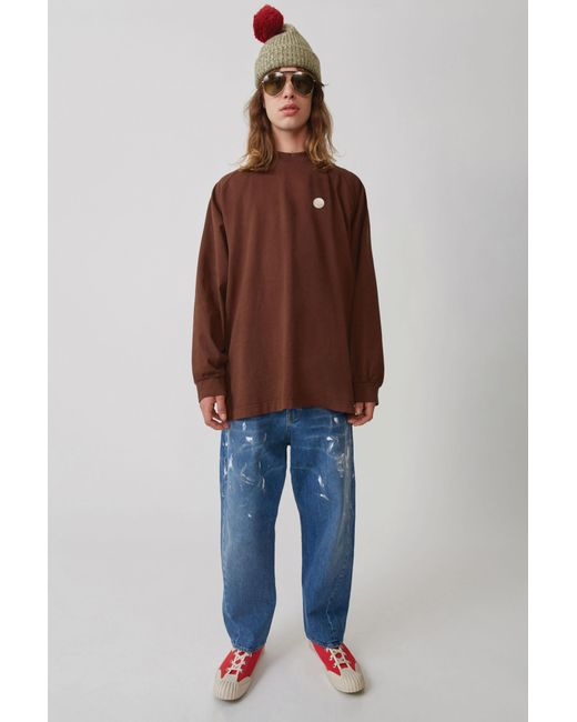 Acne - Oversized Jeans mid Blue for Men - Lyst