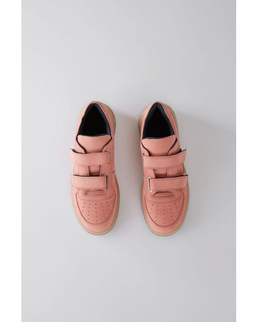 Acne - Velcro Sneakers dusty Pink - Lyst