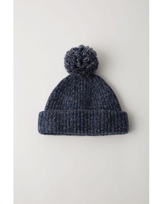 4b7cadfb896 Acne Studios Bk-ux-hats000003 Blue Melange Beanie Hat in Blue - Lyst