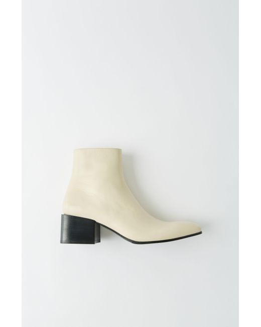 05e147cc1af39 Acne Multicolor Fn-wn-shoe000126 Vanilla Yellow Patent Ankle Boots ...