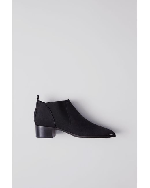 Acne - Black Jenny Suede Ankle Boots - Lyst