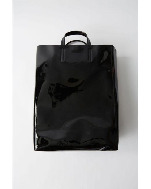 Acne - Baker Patent Black Tote Bag - Lyst