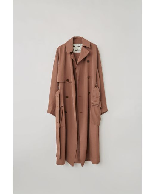 Acne - Brown Olicia Twill Trench Coat - Lyst