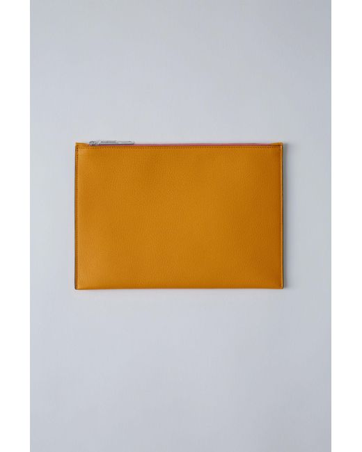 Acne - Small Zippered Pouch grapefruit / Pink - Lyst