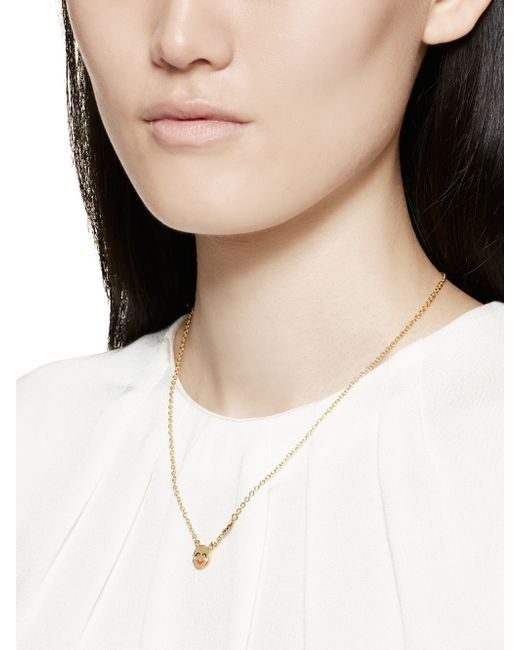 Kate Spade | Metallic Tell All Bride Emoji Necklace | Lyst
