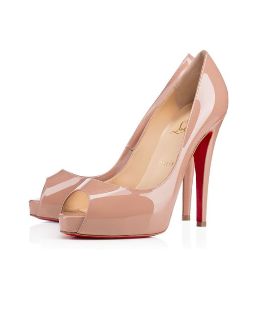 christian louboutin new very prive leopard-print patent leather peep-toe pumps