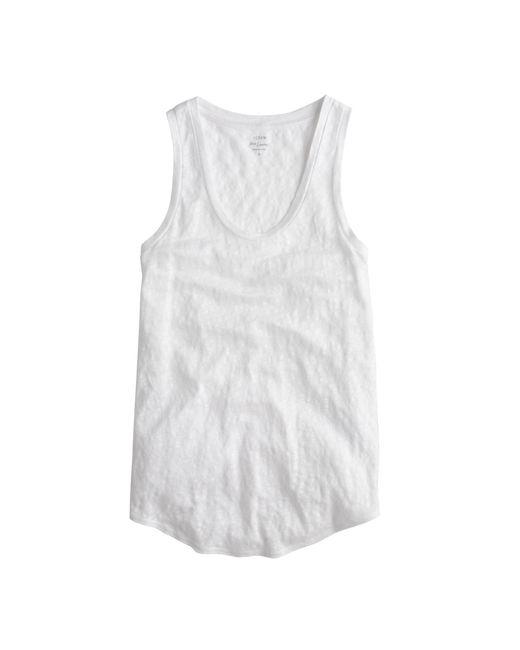J.Crew | White Linen Tank Top | Lyst