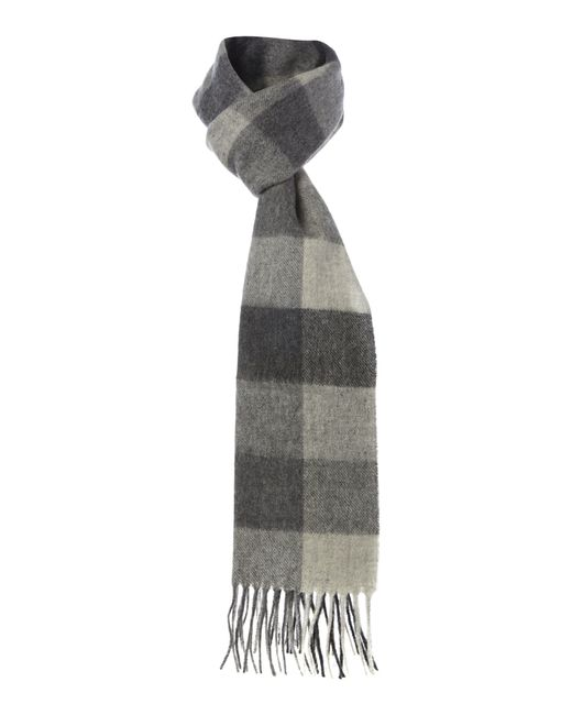 Barbour | Gray Large Tattersall Check Scarf for Men | Lyst