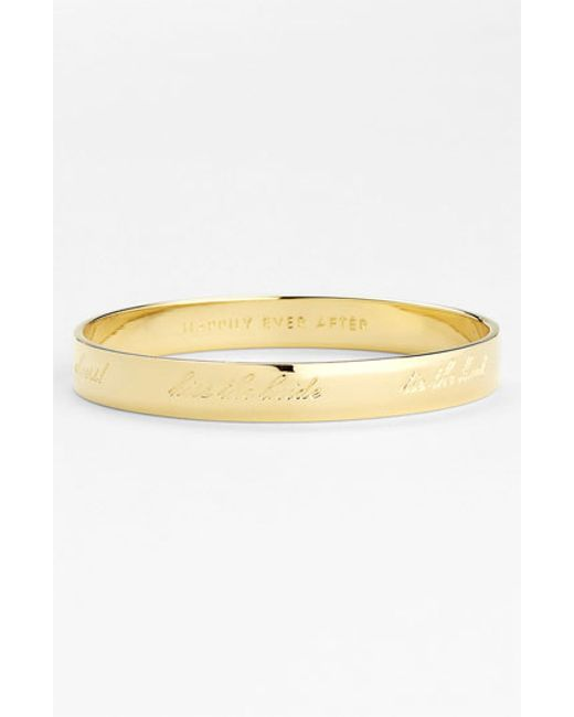 kate spade new york | Metallic 'idiom - Happily Ever After' Bangle | Lyst