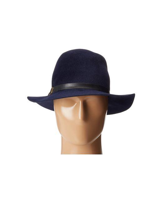 Hat Attack | Blue Velour Luxury Classic Fedora | Lyst