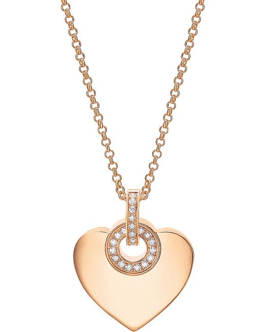 BVLGARI | ∙ Cuore 18kt Pink-gold And Pavé Diamond Necklace | Lyst