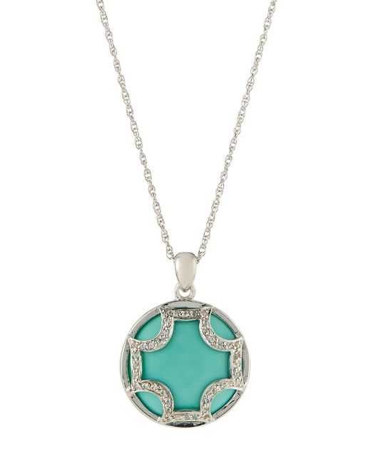 Elizabeth Showers | Blue Turquoise Maltese Pendant Necklace | Lyst