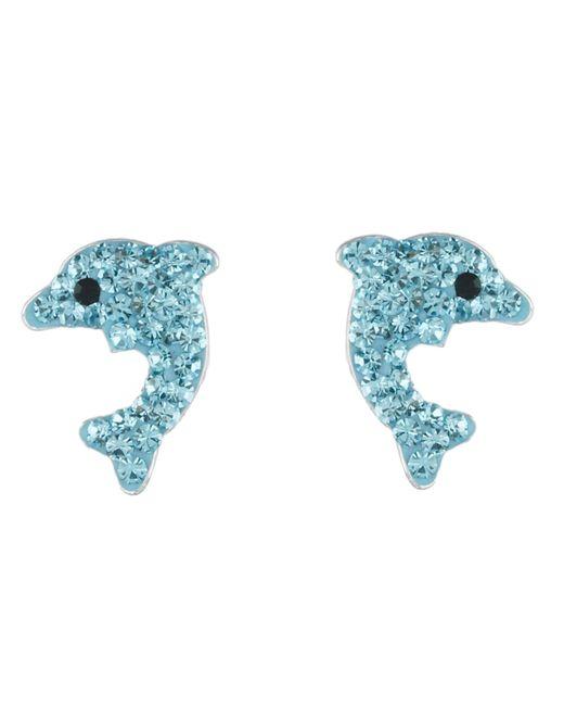 Betsey Johnson | Blue Dolphin Stud Earrings | Lyst