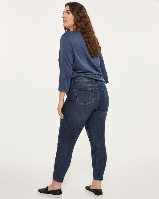 3aa55099aab ... Addition Elle - Blue Online Only - Tall Slightly Curvy Skinny Ankle Jean  With Rhinestones ...