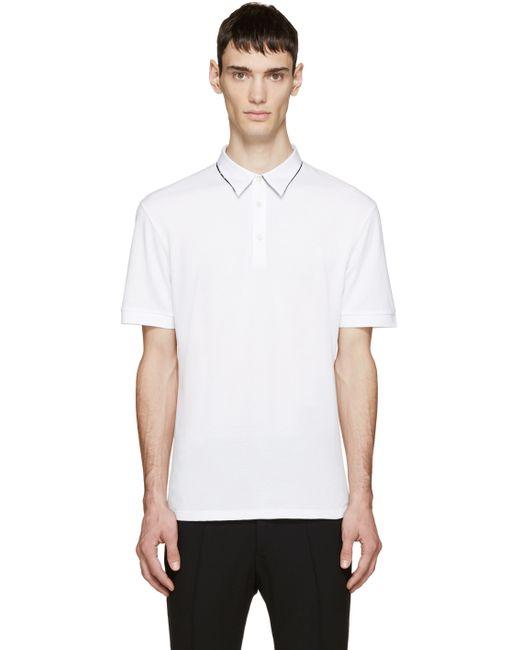 Alexander McQueen | White Double Collar Polo for Men | Lyst