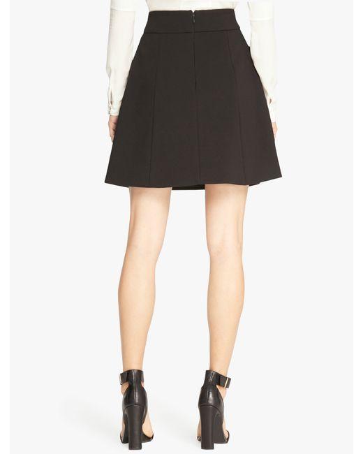 Halston | Black Bonded Crepe Structured Skirt | Lyst