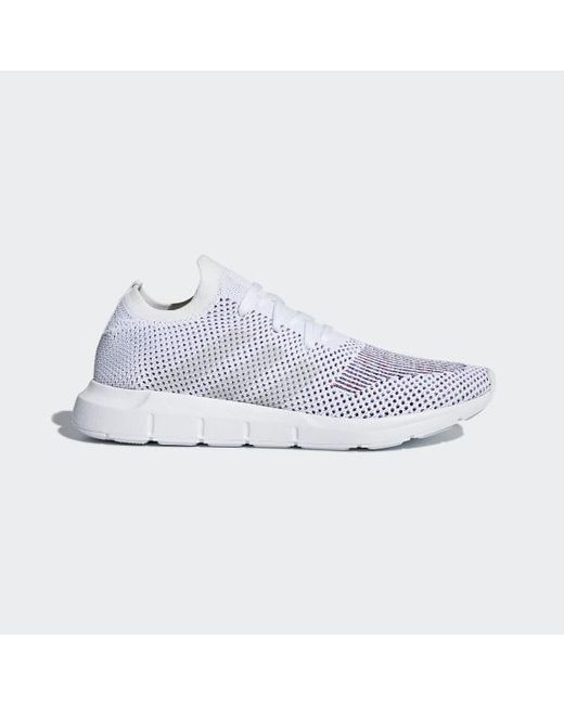 98a35f2c3 Adidas - White Swift Run Primeknit Shoes for Men - Lyst ...