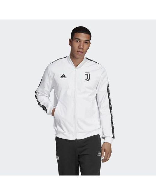 24714c043dd Adidas - White Juventus Anthem Jacket for Men - Lyst ...