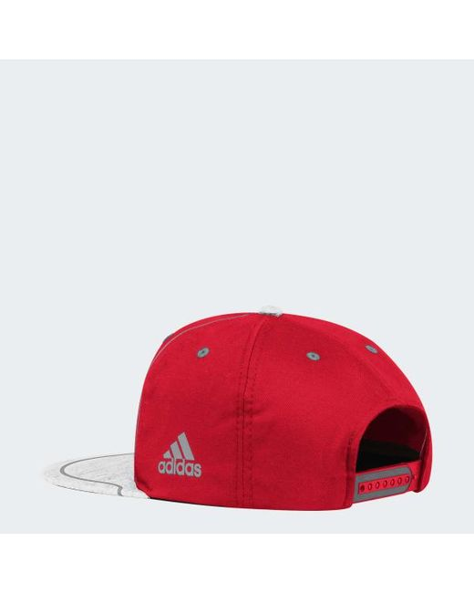 fabbbba13f0 Lyst - Adidas Red Wings Flat Brim Hat in Red for Men