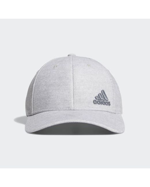 f57784ef Adidas - Gray Release Plus Stretch Fit Hat for Men - Lyst ...
