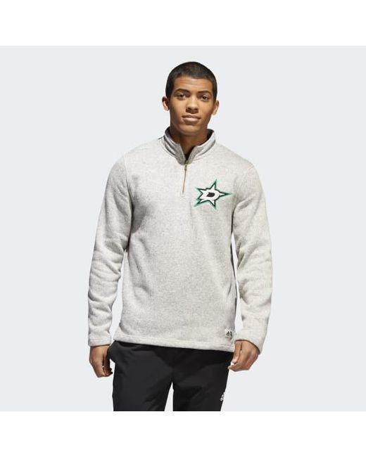 5f6dd2b9da3a Adidas - Gray Stars Sweatshirt for Men - Lyst ...