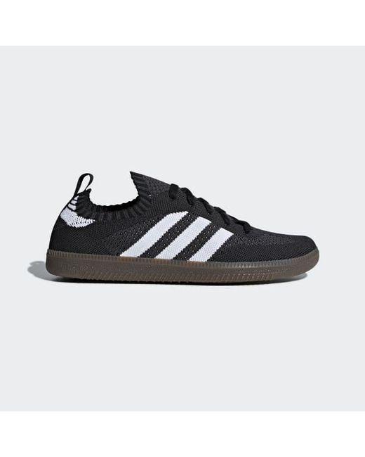 lyst adidas samba sock primeknit scarpe in nero per gli uomini.