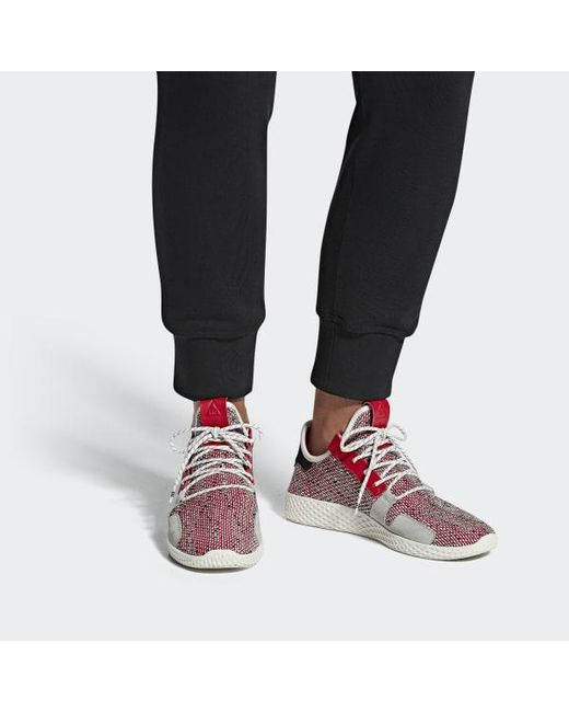 reputable site 0aab1 7e5c2 ... Adidas - Red Pharrell Williams Solarhu Tennis V2 Shoes for Men - Lyst  ...
