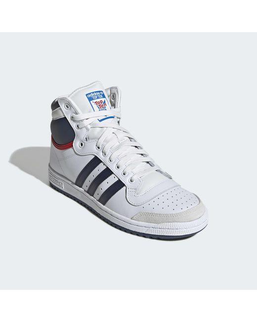 Top Adidas Coloris Chaussure Lyst Neutre En Hi Ten 5Rq34AjL