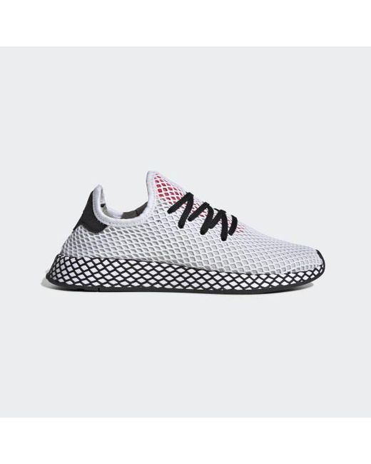 big sale 272ea 91e7a Adidas - White Deerupt Runner Shoes - Lyst ...