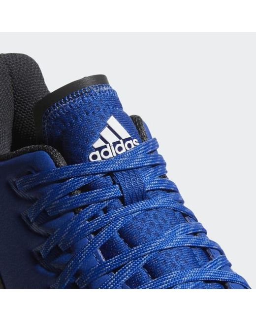 release date b23b4 cbd6e ... Adidas - Blue Icon Bounce Cleats for Men - Lyst ...