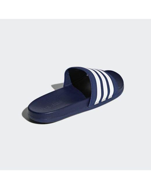 282324cec9422 ... Adidas - Blue Adilette Cloudfoam Plus Stripes Slides - Lyst ...