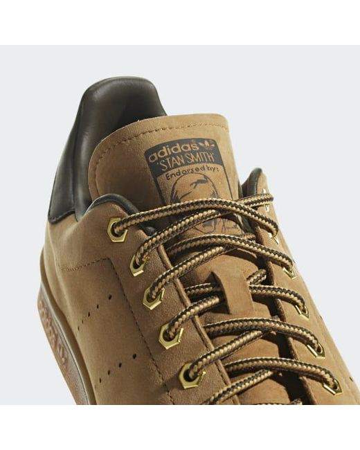 06a076a99e65 ... Adidas - Brown Stan Smith Wp Shoes for Men - Lyst ...