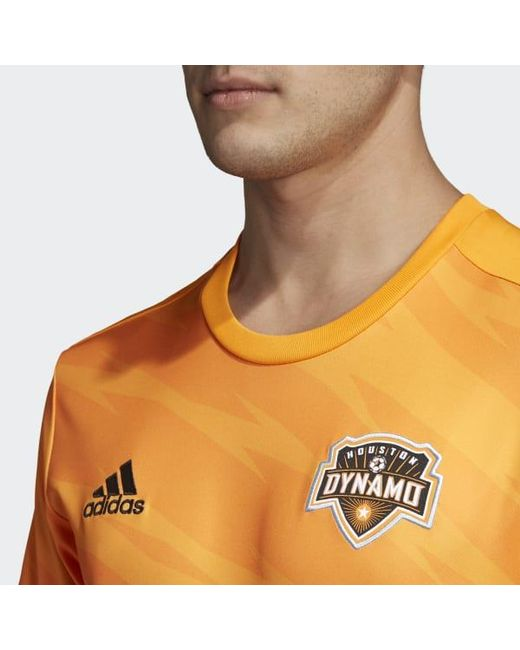 the best attitude bb97c a3922 Lyst - adidas Houston Dynamo Home Jersey in Orange for Men