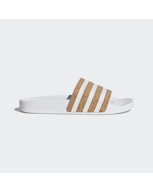 627685734f3dd Adidas - White Adilette Slides - Lyst ...
